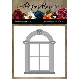 Paper Rose Dies-Tudor Arched Window