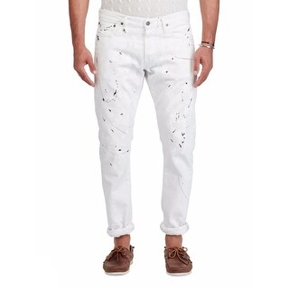 """Polo Ralph Lauren Men's Sullivan Slim-Fit Cotton Jeans White Painted Size 38"""" W x 30"""" L"""