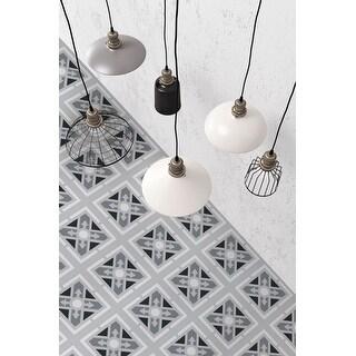 8x8 Graphic Grey Abir Porcelain Floor and Wall Tile (3.88 Sq. Ft./ 9 pcs per box)