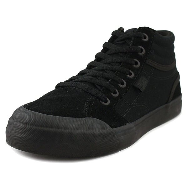 e45b4d55c783 Shop DC Shoes Evan Hi Youth Round Toe Leather Black Sneakers - Free ...
