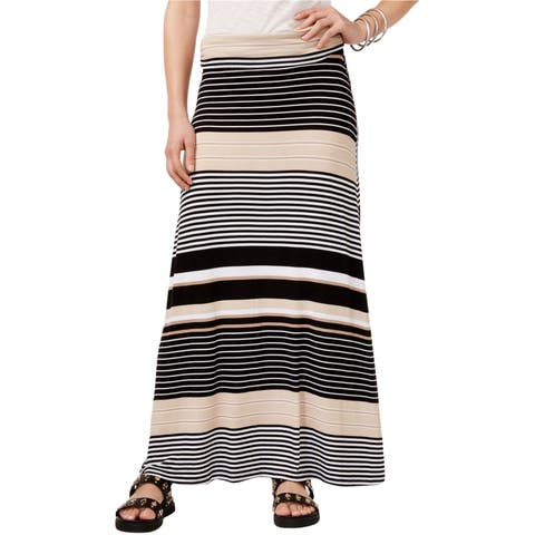 Ultra Flirt Womens Foldover Maxi Skirt