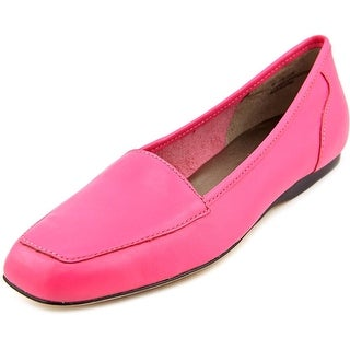 Array Freedom Square Toe Women N/S Square Toe Leather Pink Loafer