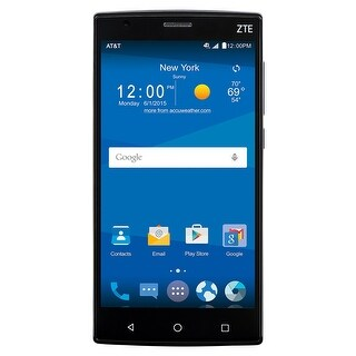 ZTE ZMAX 2 Z958 16GB AT&T Unlocked 4G LTE Android Phone w/ 8MP Camera - Black