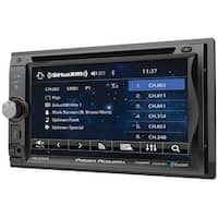"Power Acoustik 6.2"" Double Din Receiver With Bluetooth Sxm Interface  & Detachable Faceplate"