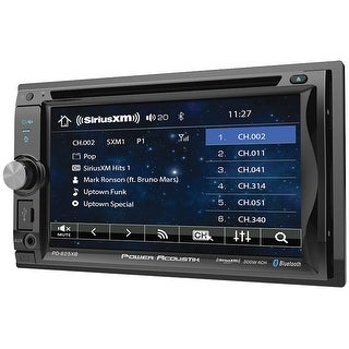 """Power Acoustik 6.2"""" Double Din Receiver With Bluetooth Sxm Interface & Detachable Faceplate"""