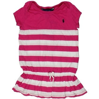 Ralph Lauren Infant Girls Striped Casual Dress - 24 mo
