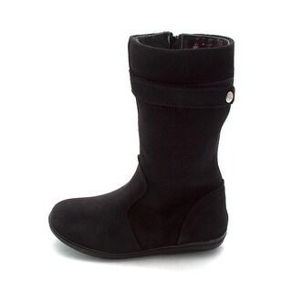 Use-Custom-Brand Girls Barrett Leather Mid-Calf Zipper Riding Boots - 10 m us toddler