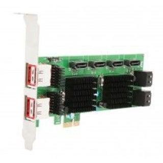 Syba PCI-Express 2.0 x1/ 8-Port SATA 6G Non-Raid Card Jumper Setting for External Port Marvell 88SE9215+88SM9705 Chipset