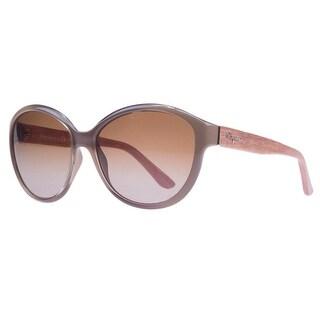 Salvatore Ferragamo SF717/S 902 Turtle/Burnt Wood Oval Sunglasses