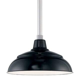 "Millennium Lighting RWHS14P R Series 14"" Wide Porcelain Outdoor Warehouse Shade"