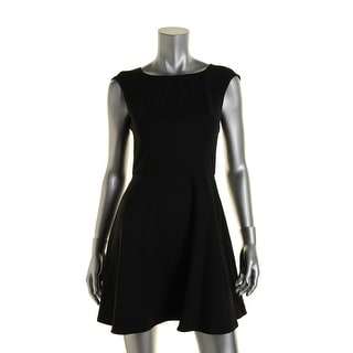 French Connection Womens Ponte Box Pleat Casual Dress