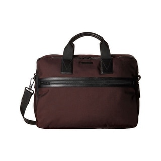 Michael Kors Parker Mens Large Nylon Briefcase Oxblood Burgundy