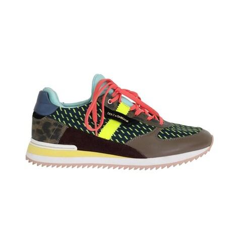 Dolce & Gabbana Dolce & Gabbana Multicolor Leather Sport Sneakers - eu39-us8-5
