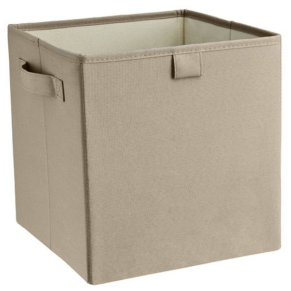 ClosetMaid 16080 2 - Handle Fabric Storage Bin, Gray Stone, Polyester