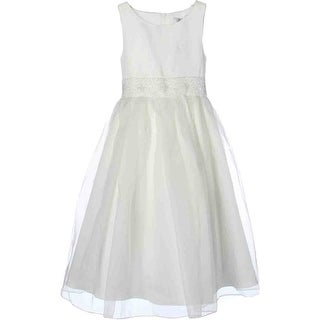 US Angels Girls Organza Special Occasion Dress - 10