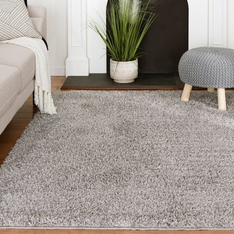 Havannah Light Grey Tufted Shag Rug