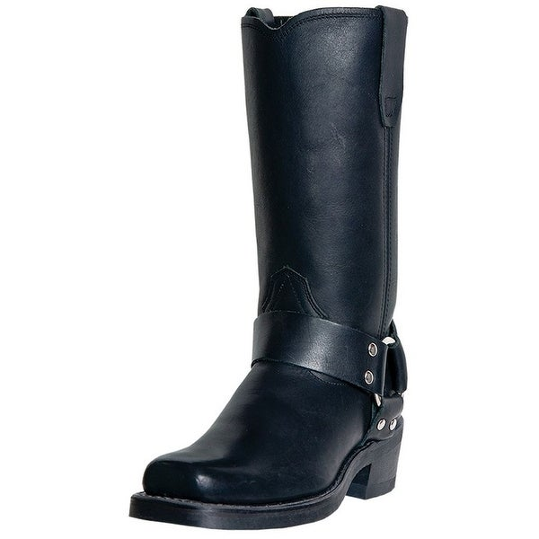 Dingo Motorcycle Boots Womens Molly Leather Harness Black