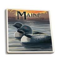 ME - Loon Family - LP Artwork (Set of 4 Ceramic Coasters)
