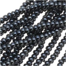 Czech Seed Beads 11/0 Hematite Grey Metallic (1 Hank)