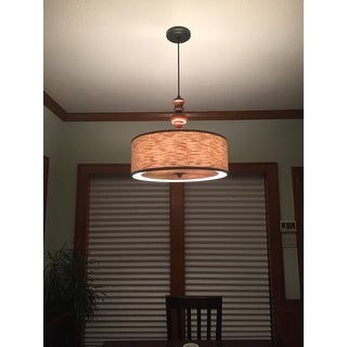 Schoolhouse Turned 4-light Medium Walnut Pendant