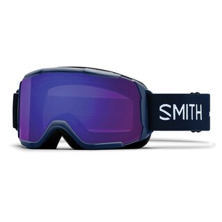 Smith Optics 2017/18 Womens Showcase OTG Asian Fit Goggle - Navy Micro Floral Frame, ChromaPop Everyday Violet Mirror Lens