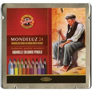 Mondeluz Aquarell Watercolor Pencils 24/Pkg-