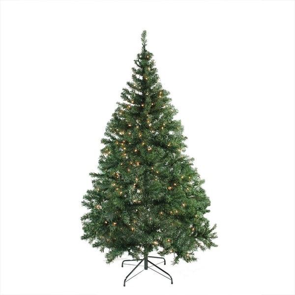"6.5' x 46"" Pre-Lit Niagara Pine Medium Artificial Christmas Tree - Clear Lights - green"