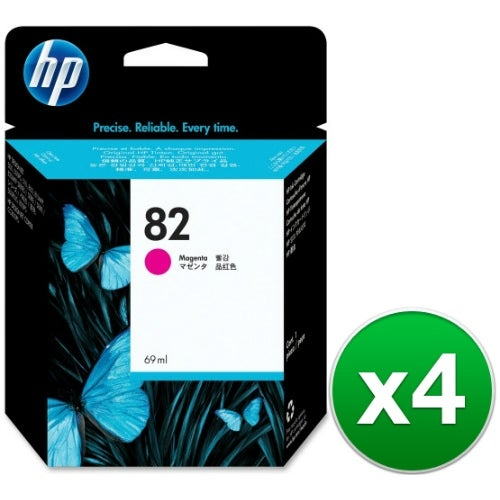 HP 82 69-ml Magenta DesignJet Ink Cartridge (C4912A) (4-Pack)