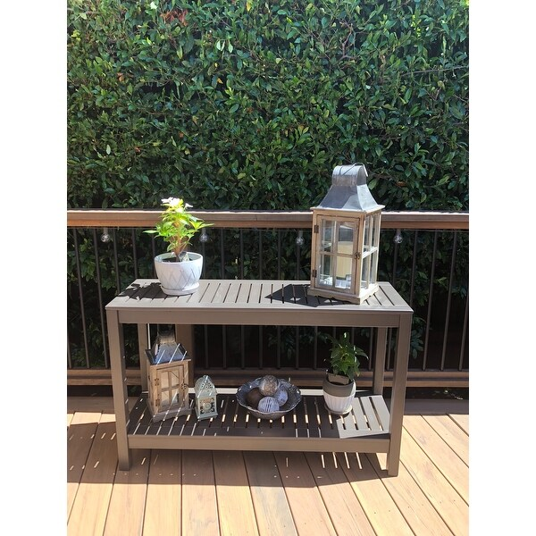 Outdoor console table Extra Long Top Product Reviews For Havenside Home Surfside Outdoor Console Table 21285326 Overstockcom Overstock Top Product Reviews For Havenside Home Surfside Outdoor Console