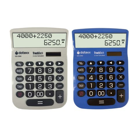 (2 Ea) 2 Line Large Desktop Calculator Trackback