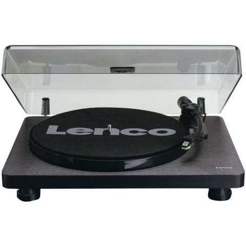Lenco L-30BK L-30 Belt-Drive Turntable with Auto Stop and PC Encoding (Black Wood Base)