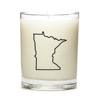 State Outline Candle, Premium Soy Wax, Minnesota, Toasted Smores