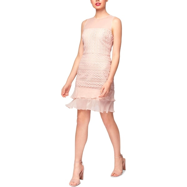Betsey Johnson Womens Cocktail Dress Lace Mini