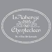 "The French Inn - Americana Decor Stencil 12""X12"""