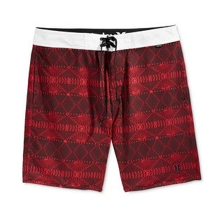 Hurley NEW Red White Mens Size 32 Board Surf Printed Slim Fit Shorts