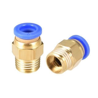 """4 Pcs 1/4"""" G Male Straight Thread 8mm Push In Joint Pneumatic Quick Fittings"""
