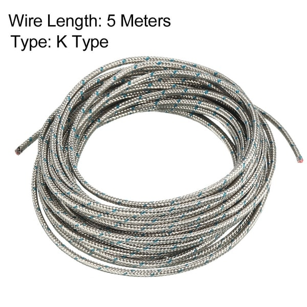 K Type Thermocouple Wire 2x0.8mm Stranded Wire Extension Wire 5 Meters Long