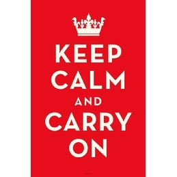 ''Keep Calm and Carry On (Red)'' by Anon Motivational Art Print (17 x 11 in.)