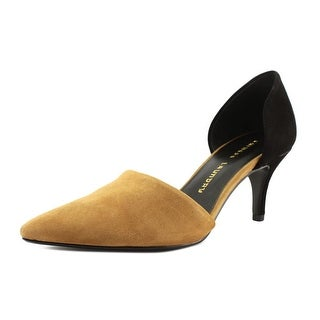 Chinese Laundry Off Beat Round Toe Suede Heels