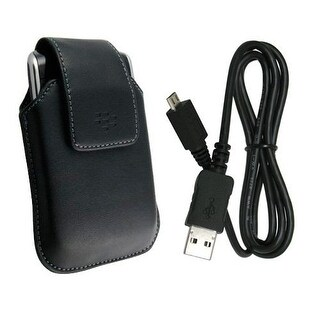 OEM BlackBerry Storm 9530, 9500 Swivel Holster and Micro USB Data Cable