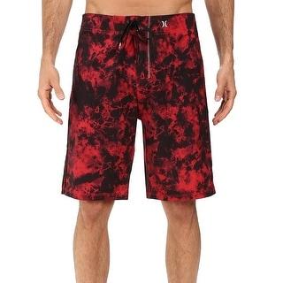 Hurley NEW Red Black Mens Size 30 Phantom Drawstring Board Surf Shorts