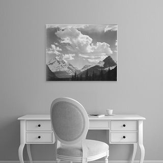 Easy Art Prints Ansel Adams's 'In Glacier National Park' Premium Canvas Art