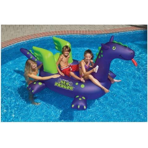 Swimline 90625 Inflatable Sea Dragon Pool Float, Purple, Vinyl