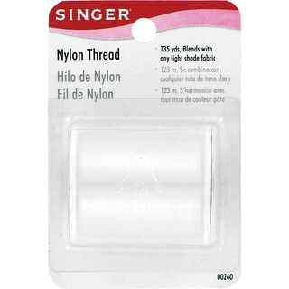 Nylon Thread 135yd-Clear - White