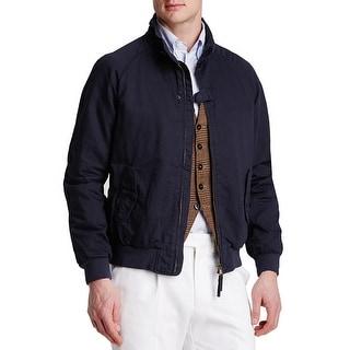 Man 1924 By Carlos Castillo Bomber Navy Blue Zip Up Field Jacket Large