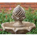 Sunnydaze Two Tier Solar-on-Demand Fountain, 35 Inch Tall - Thumbnail 8