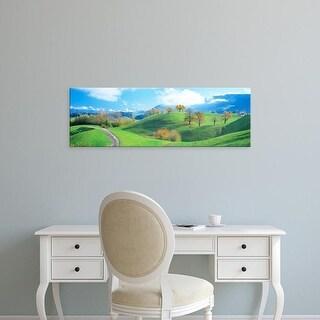 Easy Art Prints Panoramic Images's 'Rolling Landscape, Zug, Switzerland' Premium Canvas Art
