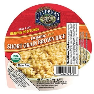 Lundberg Family Farms - Short Brown Heat & Eat Rice Bowl ( 12 - 7.4 oz cups)