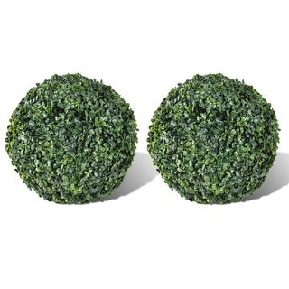 Online Gym Shop CB18564 Boxwood Ball Artificial Leaf Topiary Ball - 10.6 in. - 2 Piece
