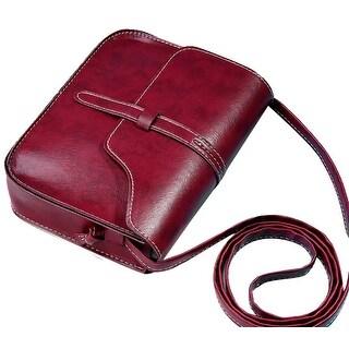 QZUnique Women's Soft PU Leather Fashion Vintage Style Cross Body Shoulder Bag